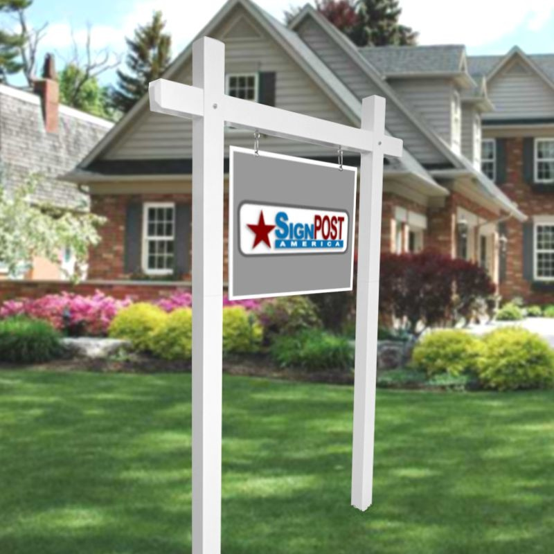 Double yard sign post