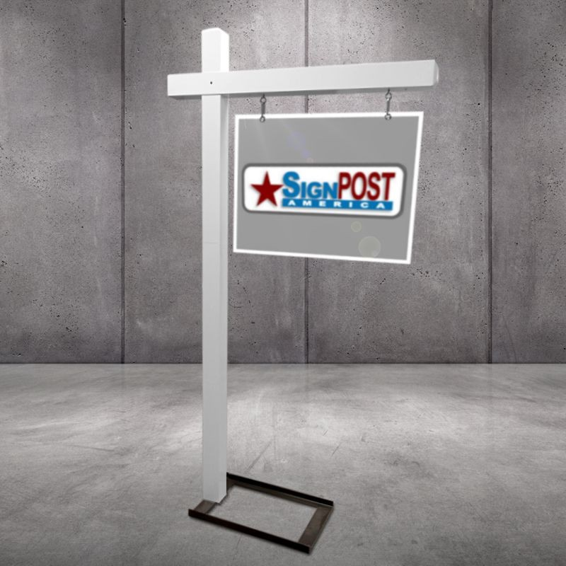 Floor stand for real estate sign posts