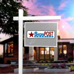 real estate sign post