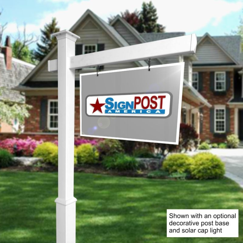 vinyl real estate sign post