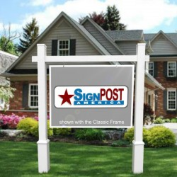 real estate sign frame with post bases