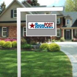 uptown real estate sign post